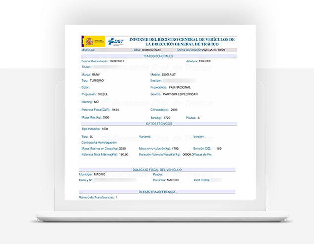 solicitud informe trafico - gestoria valencia